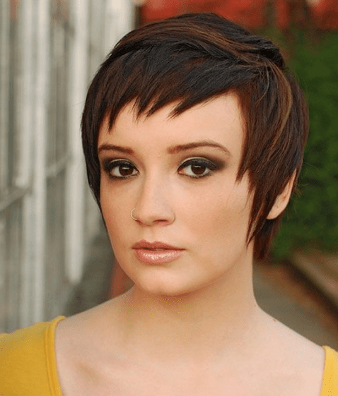Sleek Pixie with Little Ragged Bangs